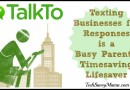 TalkTo App: Texting Businesses for Responses is a Busy Parent's Timesaving Lifesaver {sponsored}