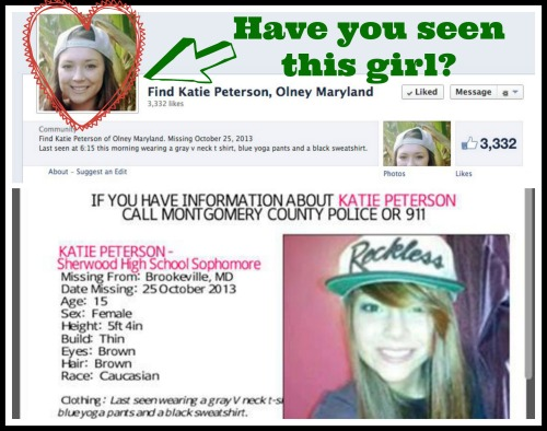 Help Find Katie Peterson Olney MD