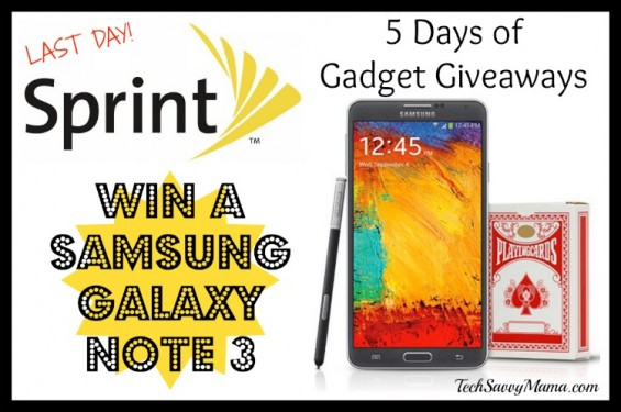 Last day of Sprint 5 Days of Gadget Giveaways: Samsung Note 3