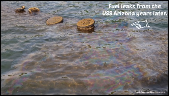 USS Arizona Fuel Leak
