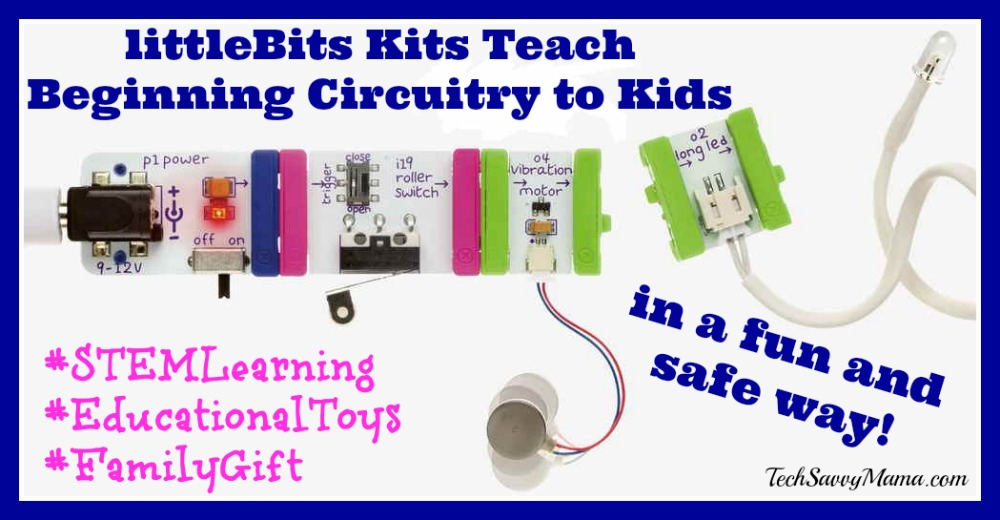 littleBits Kits Teach Beginning Circuitry to Kids + Discount! {sponsored}
