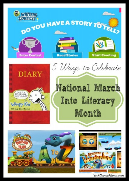5 Ways to Celebrate National March Into Literacy Month I TechSavvyMama.com