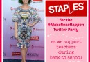 Join Me for Staples #MakeRoarHappen Twitter Party This Wednesday!