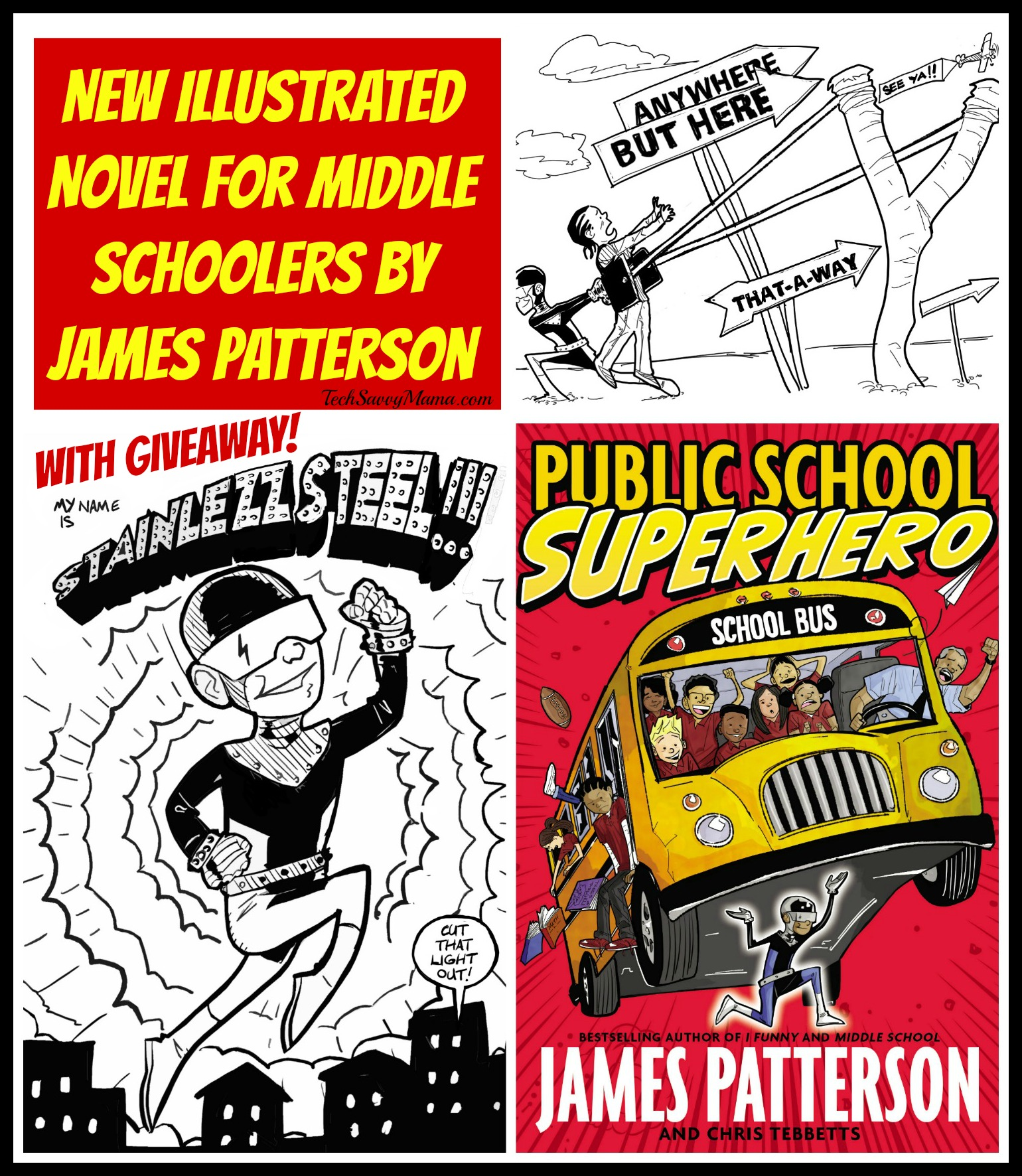 Public School Superhero: New Illustrated Novel for Middle Schoolers by James Patterson (w. giveaway)