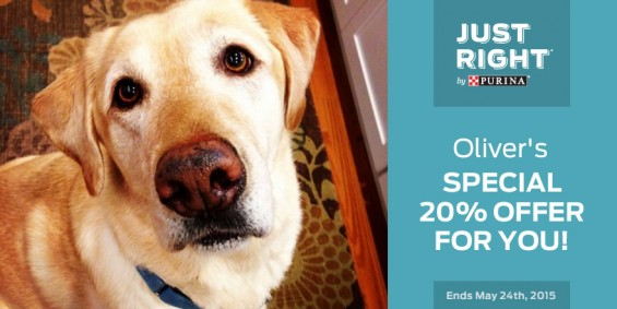 Just Right by Purina discount in honor of National Pet Month