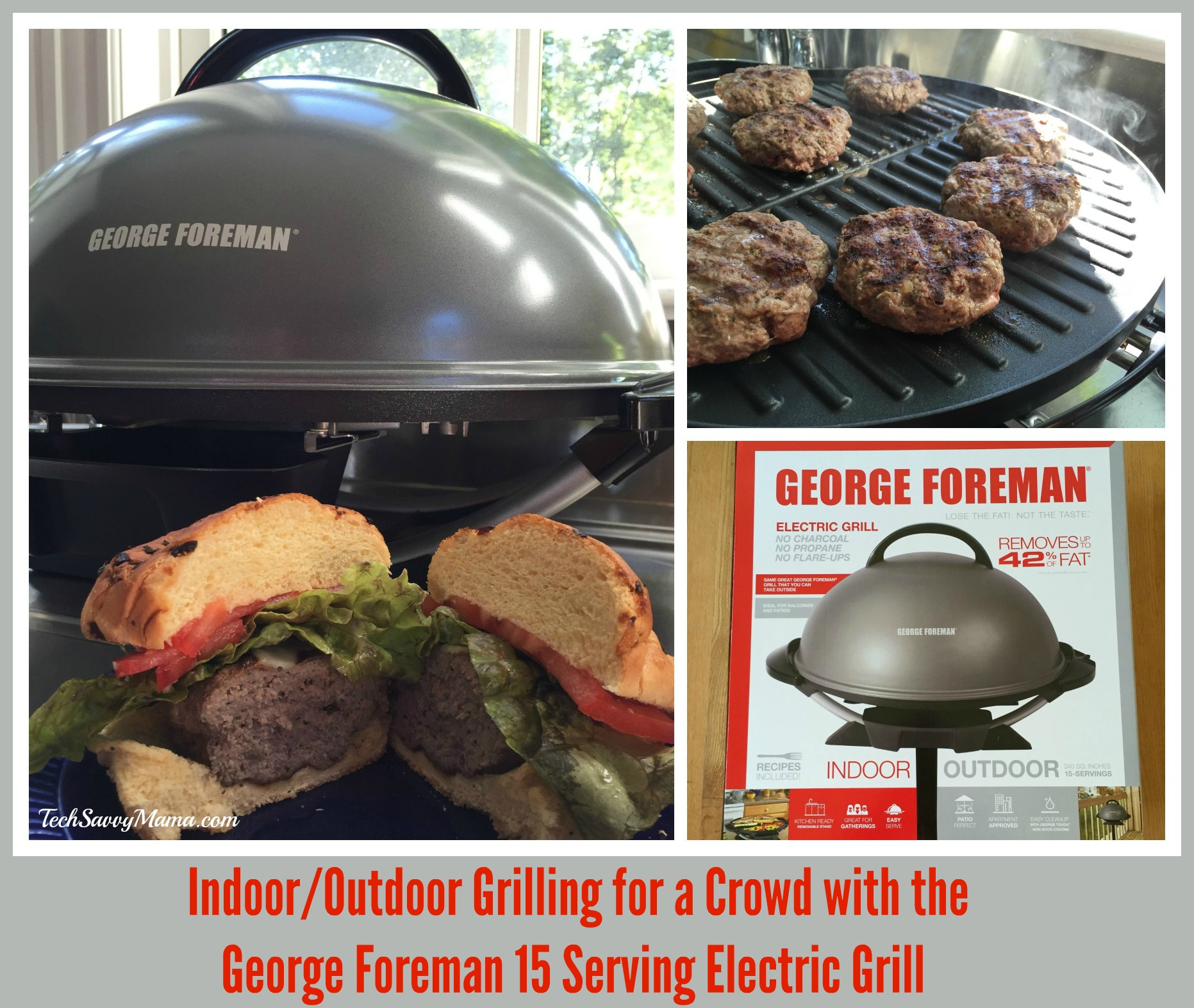 how to clean george foreman indoor outdoor electric grill