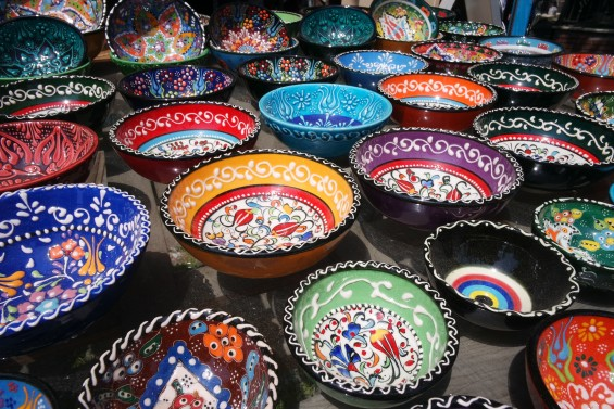 Ceramic Turkish Bowls by Leticia Barr- TechSavvyMama.com Istanbul, Turkey © 2015, Leticia Barr All Rights Reserved