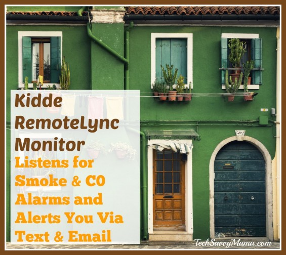 Kiddie RemoteLync Listens for Smoke & Carbon Monoxide Alarms, Alerts You Via Text & Email. Details on TechSavvyMama.com