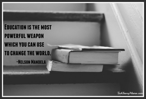 Education is the most powerful weapon which you can use to change the world. Why this quote can change lives as part of #Blogust 2015