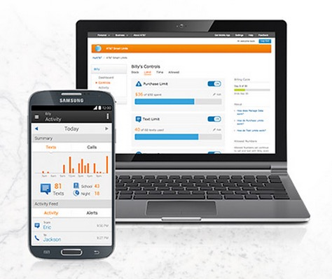 AT&T SmartLimits on mobile device and computer