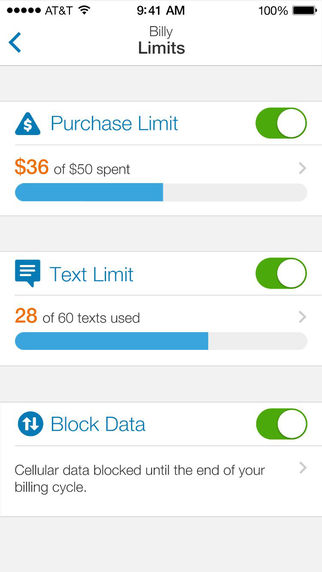AT&T SmartLimits Text & Purchase Limits. Details on TechSavvyMama.com