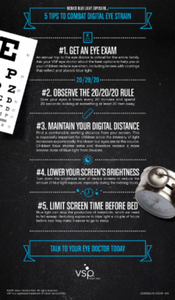 5 Steps to Combat Digital Eye Strain and more information about blue light on TechSavvyMama.com