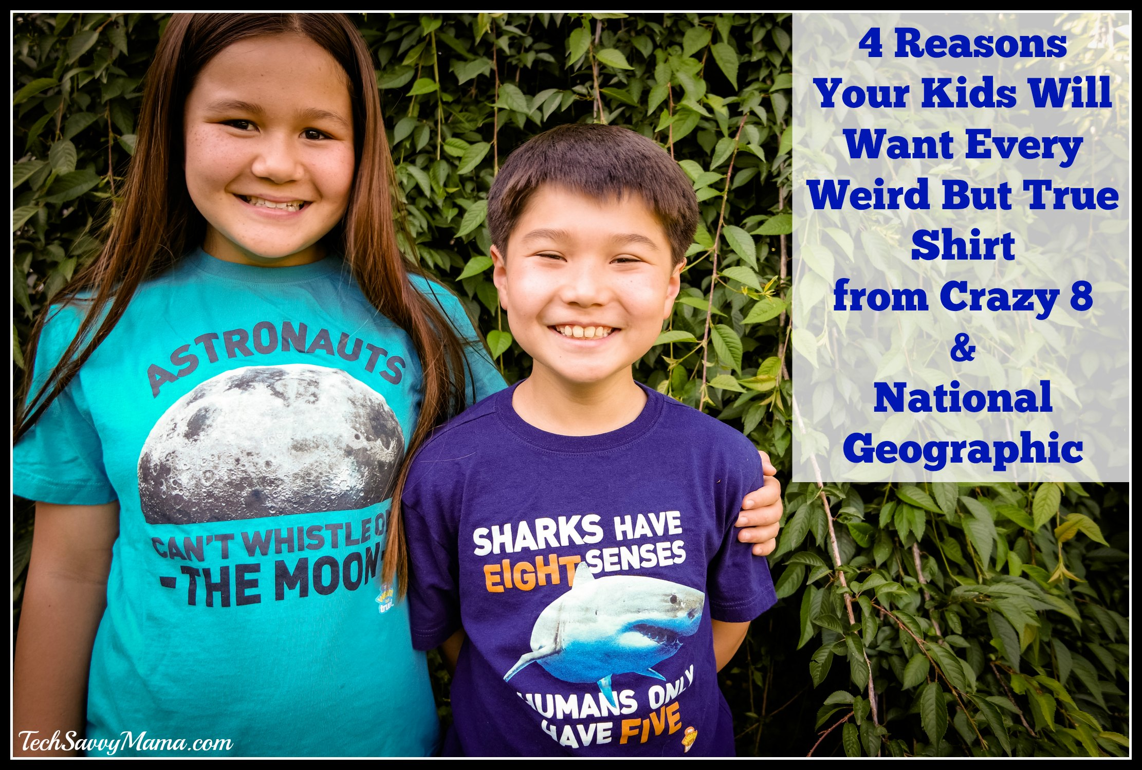 4 Reasons Your Kids Will Want Every Weird But True Shirt from Crazy 8 & National Geographic (w giveaway)