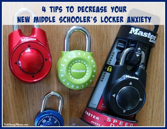 4 Tips to Decrease Your New Middle Schooler's Locker Anxiety on TechSavvyMama.com