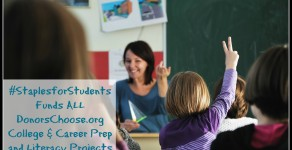 #StaplesforStudents Funds ALL DonorsChoose.org College & Career Prep, Literacy Projects in Washington, D.C.