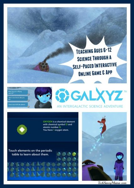 Teaching Ages 6-12 Science with Galxyz, a Self-Paced, Animated Interactive Game & App. Details on TechSavvyMama.com