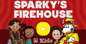 Free Sparky's Firehouse App Teaches Fire Safety to Elementary Ages. Details on TechSavvyMama.com