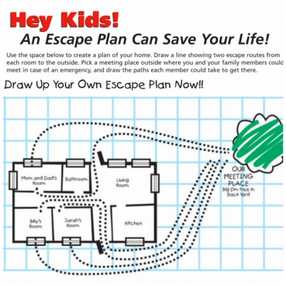 Fire safety plan for the home Home plan – Fire Safety Worksheet