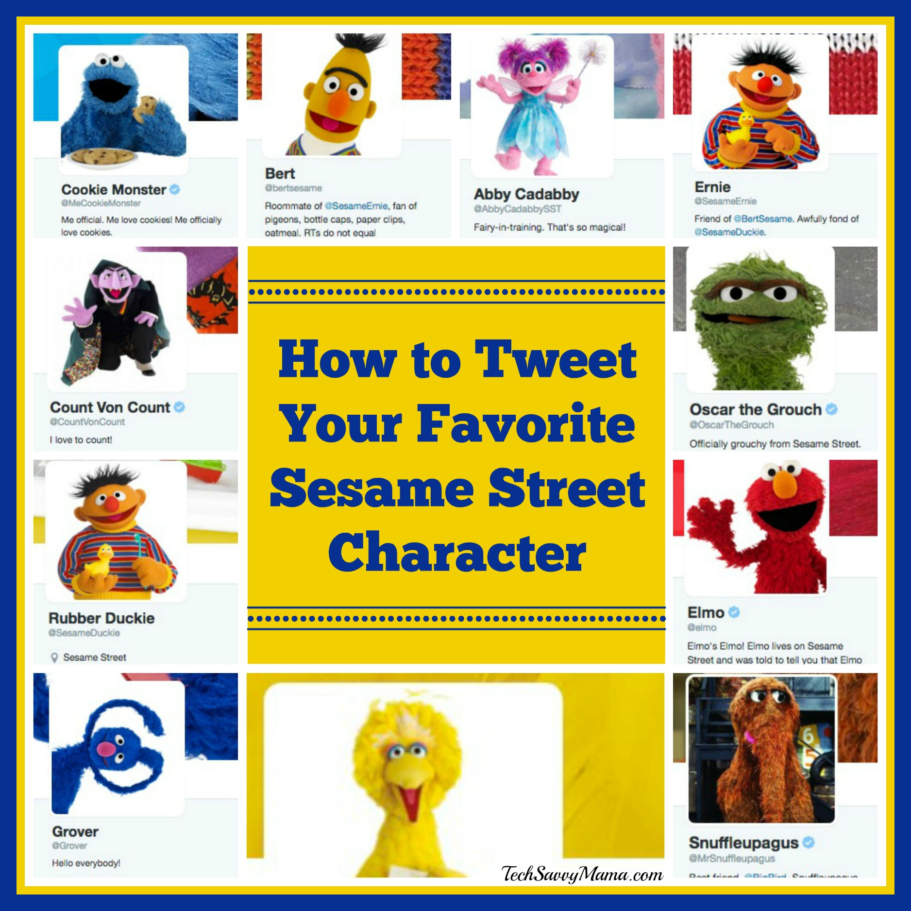 How to Tweet Your Favorite Sesame Street Characters - Tech Savvy Mama